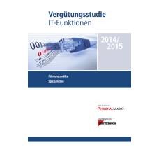 Vergütungsstudie IT-Funktionen 2014/2015